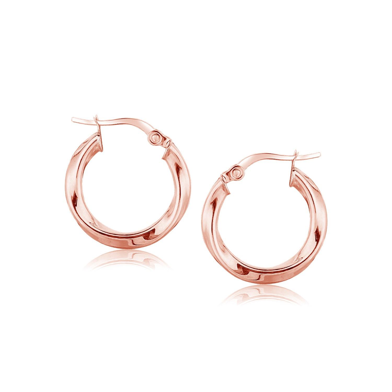 Myriam's Boutique 14K Rose Gold Classic Twist Hoop Earrings (3/4 inch Diameter) at Sears.com