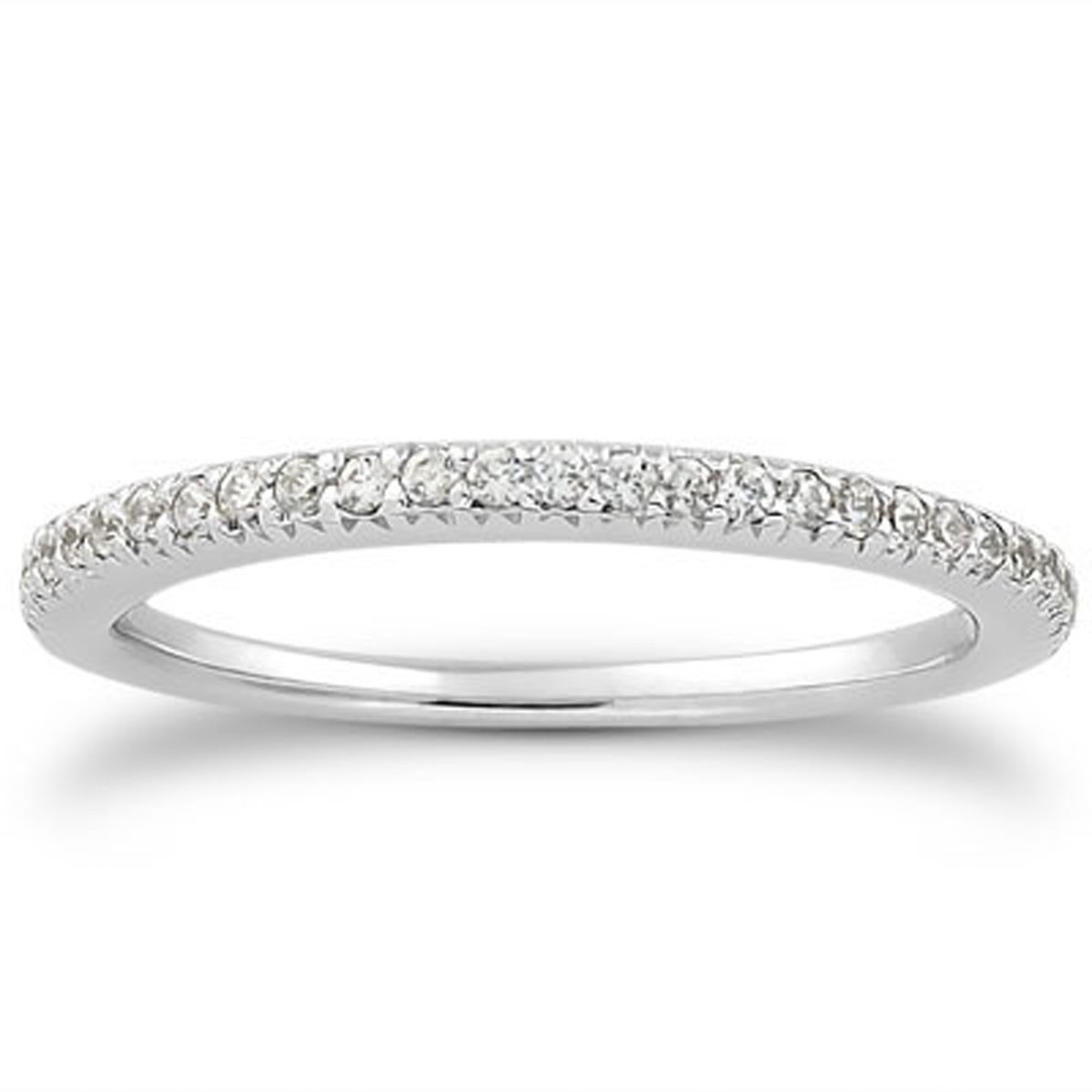 about 14k white gold fancy engraved pave diamond wedding ring band