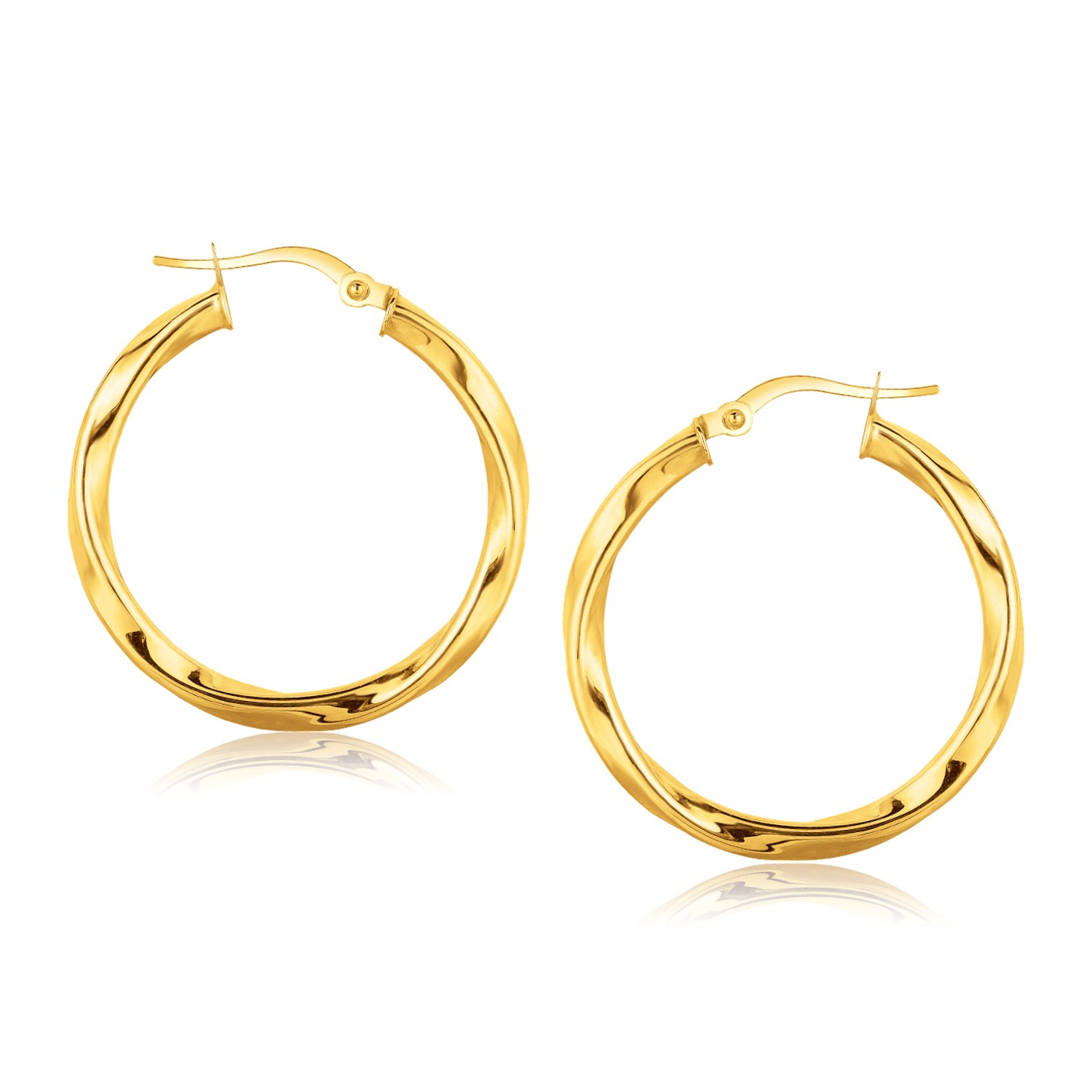 16 hoop earrings 14k yellow gold classic twist hoop earrings 1 3 16 inch 1035
